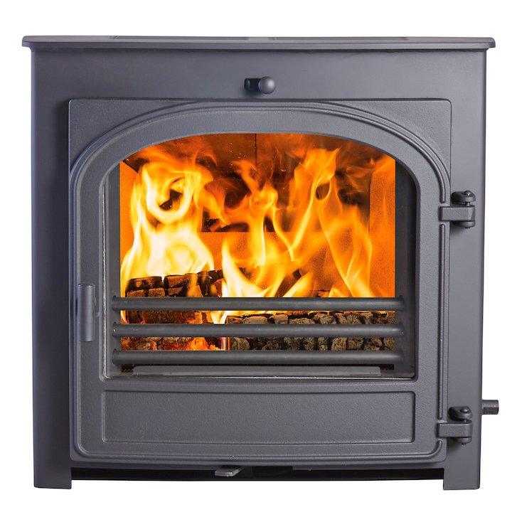 Hunter Telford 8 Multifuel Inset Stove - Black