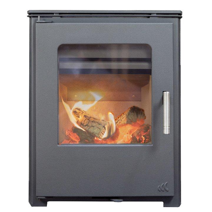 Mendip Burcott Multifuel Inset Stove - Black