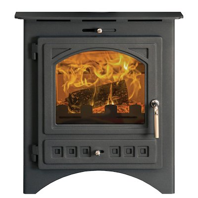 Pevex Bohemia X40 Multifuel Inset Stove Black Cast-Iron Door