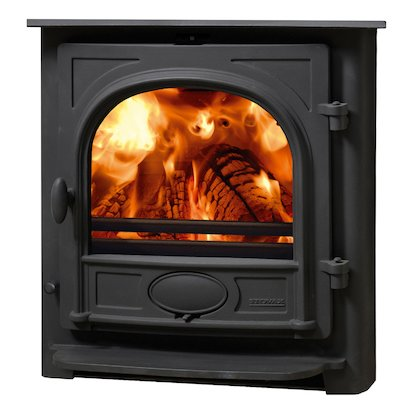 Stovax Stockton 7 Multifuel Inset Stove Black Flat Top