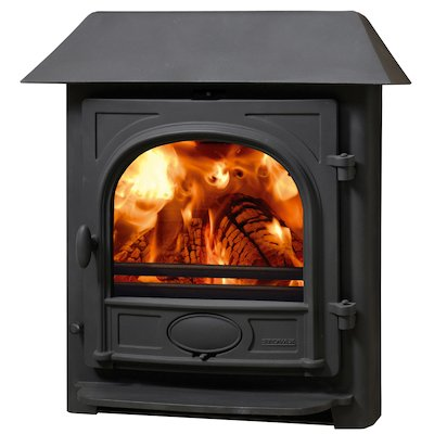 Stovax Stockton 7 Multifuel Inset Stove Black Low Canopy Top
