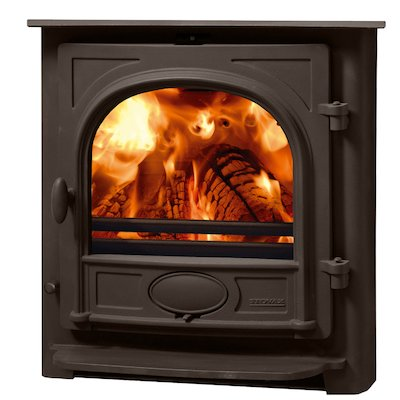 Stovax Stockton 7 Multifuel Inset Stove Metallic Brown Flat Top