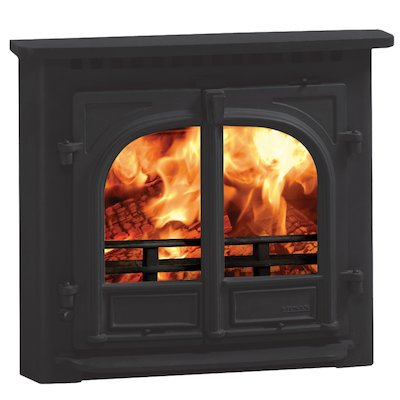 Stovax Stockton 8 Multifuel Inset Stove Black Flat Top