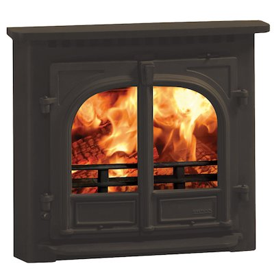 Stovax Stockton 8 Multifuel Inset Stove Metallic Brown Flat Top