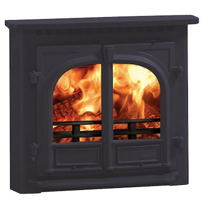 Stovax Stockton 8 Multifuel Inset Stove Metallic Blue Flat Top