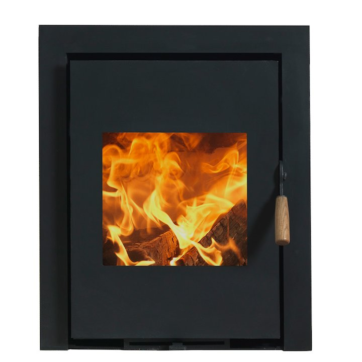Burley Coppice Firecube Wood Inset Stove - Black