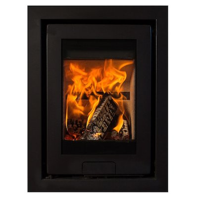 Di Lusso R4 Wood Cassette Fire Anthracite Four Sided Frame
