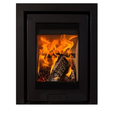 Di Lusso R4 Wood Cassette Fire Anthracite Three Sided Frame