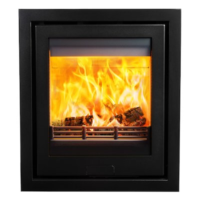Di Lusso R5 Wood Cassette Fire Anthracite Four Sided Frame