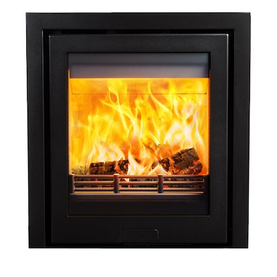 Di Lusso R5 Wood Cassette Fire Anthracite Three Sided Frame
