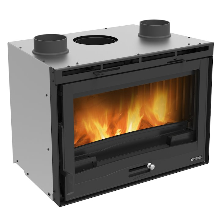 La Nordica Ventilato 70 Wood Cassette Fire - Black