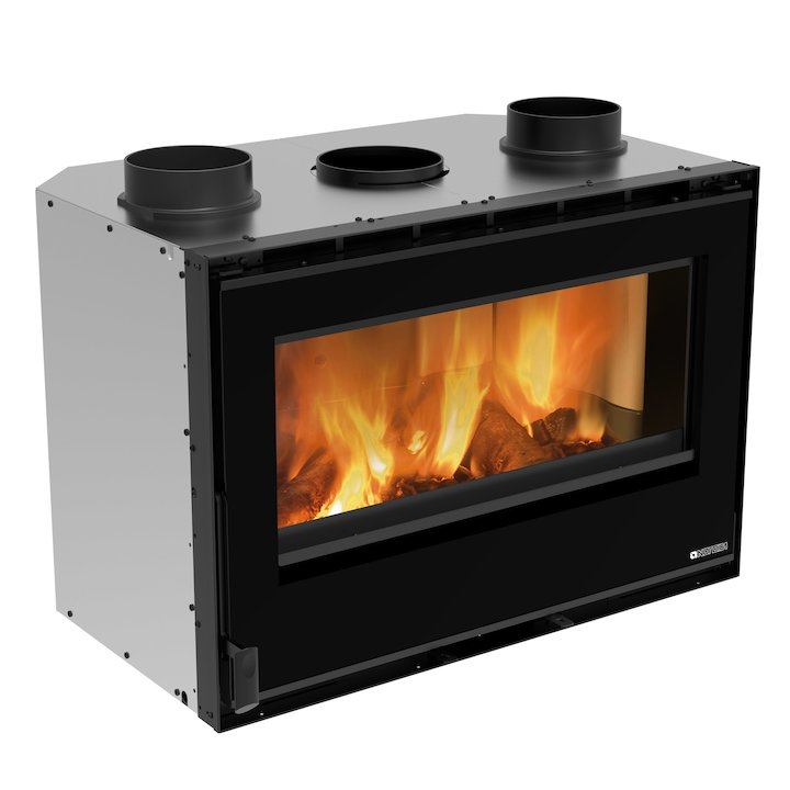 La Nordica Crystal 80 Wood Cassette Fire - Black Glass