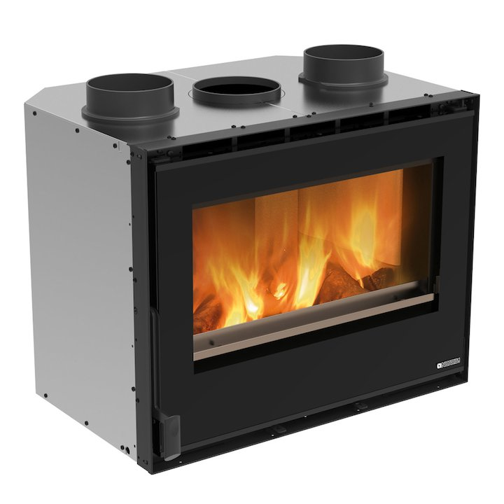 La Nordica Crystal 70 Wood Cassette Fire - Black Glass