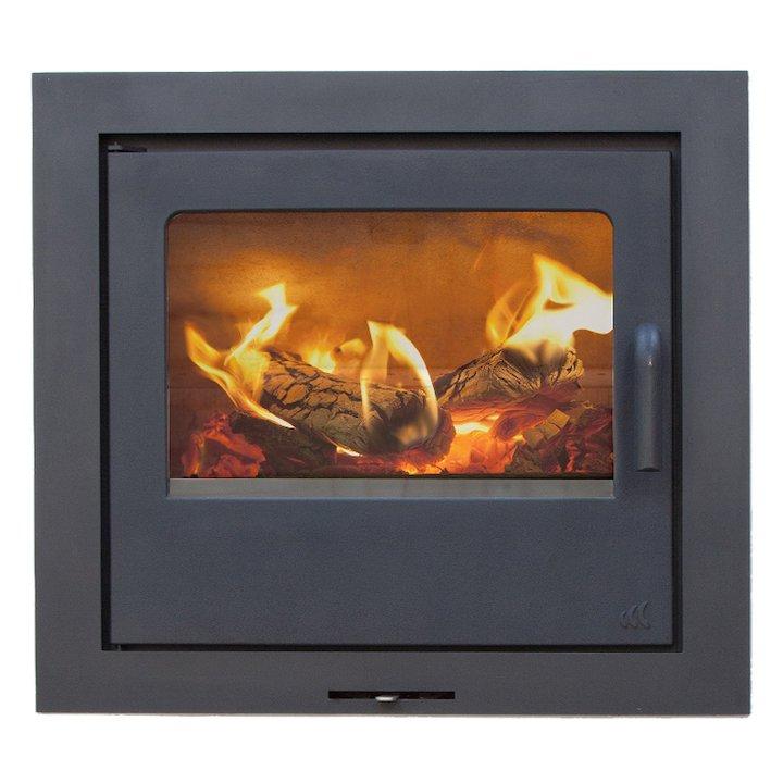 Mendip Loxton 10SE Wood Cassette Fire - Black