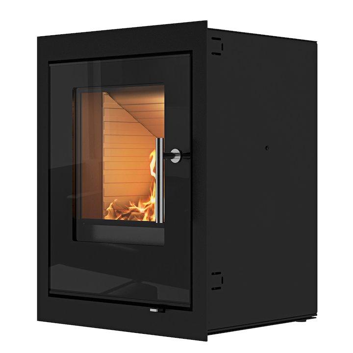Rais Q-Tee Wood Cassette Fire - Black Glass