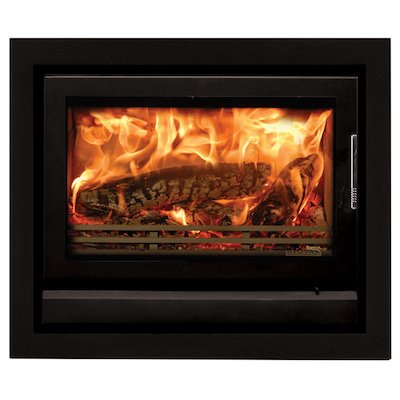 Riva 76 Wood Cassette Fire Midnight Black Four Sided Frame