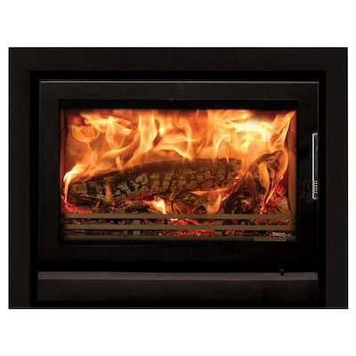 Riva 76 Wood Cassette Fire Midnight Black Three Sided Frame
