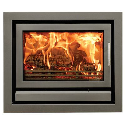 Riva 76 Wood Cassette Fire Storm Silver Metallic Four Sided Frame