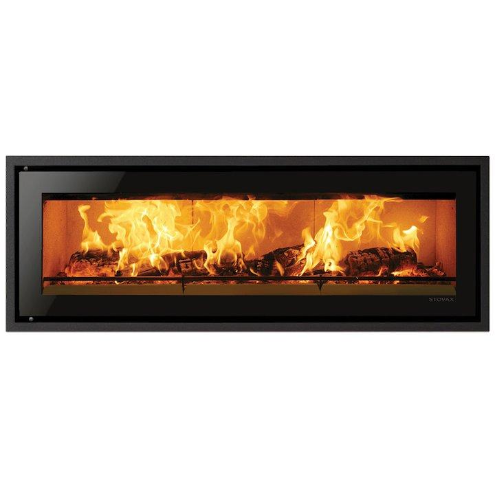 Riva Studio 3 Wood Cassette Fire Black Glass Four Sided Edge+ Frame - Black Glass