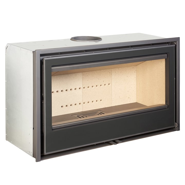 Rocal ARC 100 Wood Cassette Fire - Black Glass