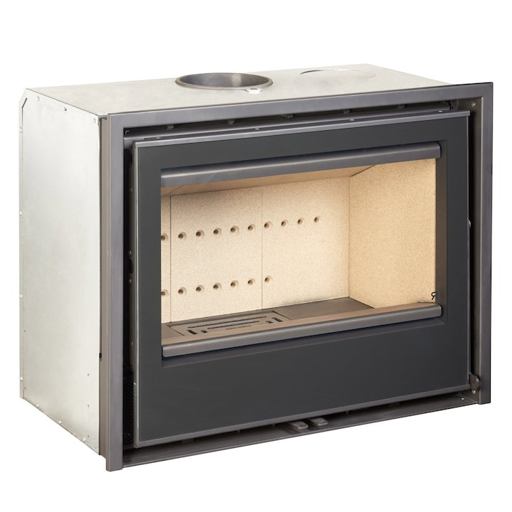 Rocal ARC 70a Wood Cassette Fire - Black Glass