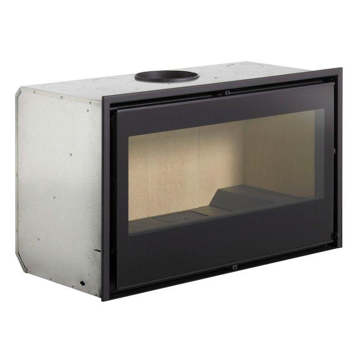 Rocal RCR 100 Wood Cassette Fire - Black Glass