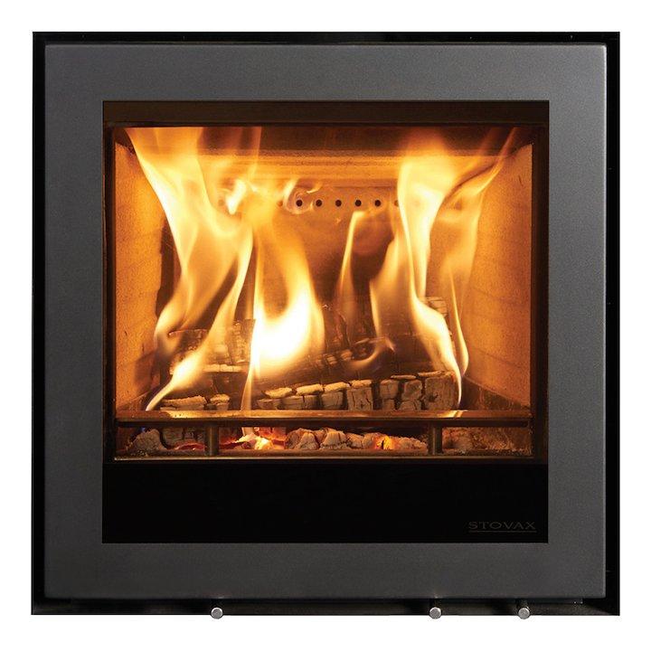 Stovax Elise 540 Wood Cassette Fire Black Frameless/Edge - Black