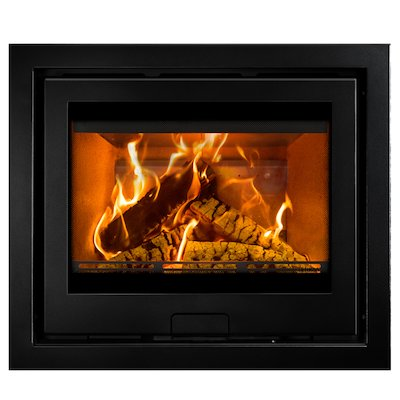 Di Lusso R6 Slimline Wood Cassette Fire Anthracite Four Sided Frame