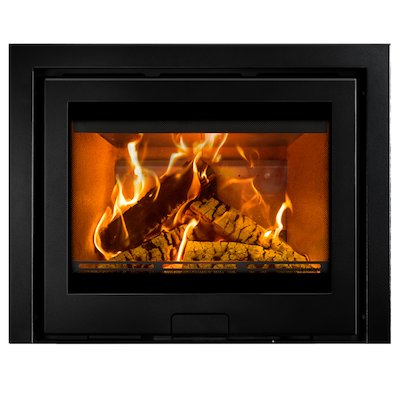 Di Lusso R6 Slimline Wood Cassette Fire Anthracite Three Sided Frame