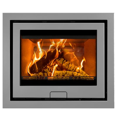 Di Lusso R6 Slimline Wood Cassette Fire Silver Four Sided Frame