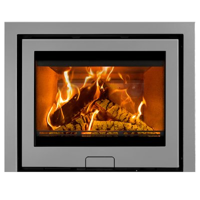 Di Lusso R6 Slimline Wood Cassette Fire Silver Three Sided Frame
