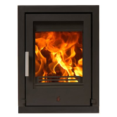 ACR Tenbury T400 Multifuel Cassette Fire - Frontal Black Four Sided Frame