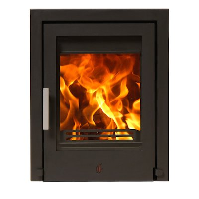 ACR Tenbury T400 Multifuel Cassette Fire - Frontal Black Three Sided Frame