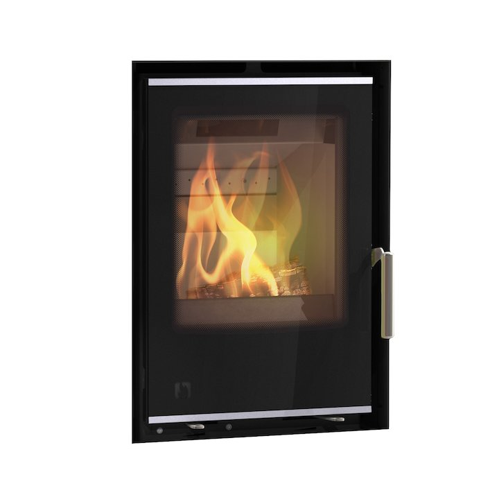 Arada I400 Multifuel Cassette Fire - Frontal Black Glass Frameless/Edge - Black Glass
