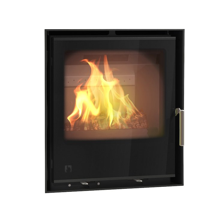 Arada I500 Multifuel Cassette Fire - Frontal Black Glass Frameless/Edge - Black Glass