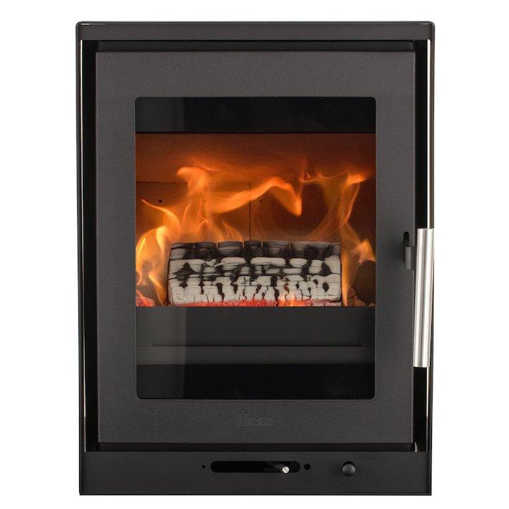 Heta Inspire 40i Multifuel Cassette Fire - Frontal Black Frameless/Edge - Black