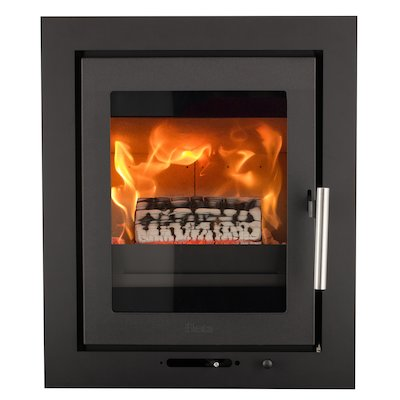 Heta Inspire 40i Multifuel Cassette Fire - Frontal Black Four Sided Frame
