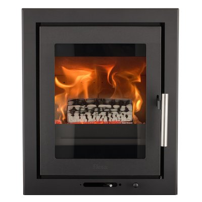 Heta Inspire 40i Multifuel Cassette Fire - Frontal Black Three Sided Convector Frame