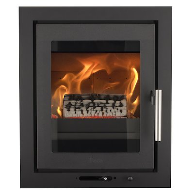 Heta Inspire 40i Multifuel Cassette Fire - Frontal Black Three Sided Frame