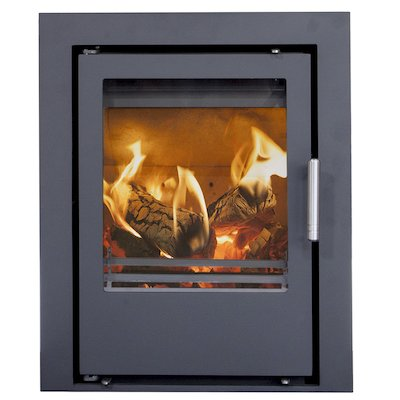 Mendip Christon 400 Multifuel Cassete Fire Black Three Sided Frame