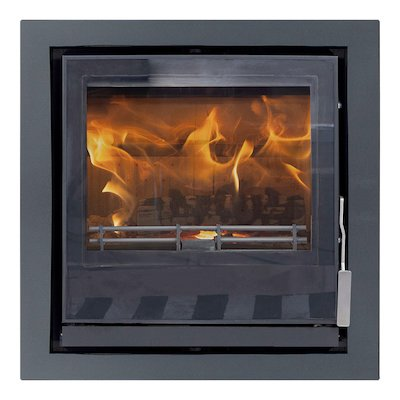 Mendip Christon 550 Multifuel Cassete Fire Black Four Sided Frame