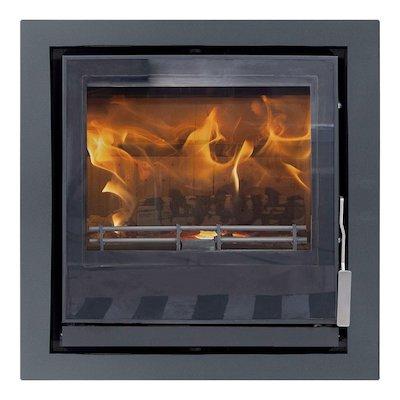 Mendip Christon 550 Multifuel Cassete Fire Black Four Sided Frame