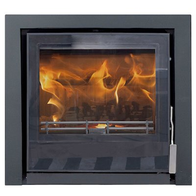 Mendip Christon 550 Multifuel Cassete Fire Black Three Sided Frame