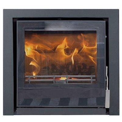 Mendip Christon 550 Multifuel Cassete Fire Black Three Sided Frame