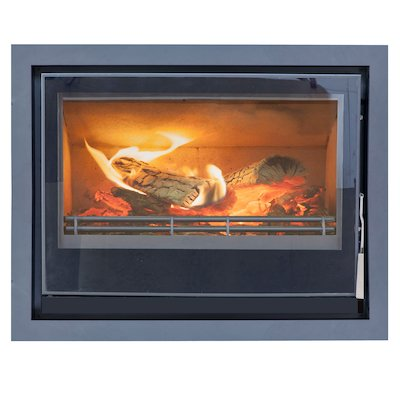 Mendip Christon 750 Multifuel Cassete Fire Black Four Sided Frame