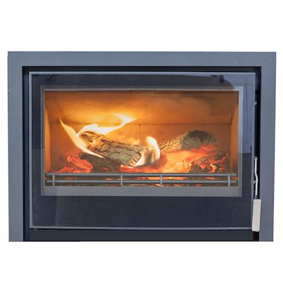 Mendip Christon 750 Multifuel Cassete Fire Black Three Sided Frame