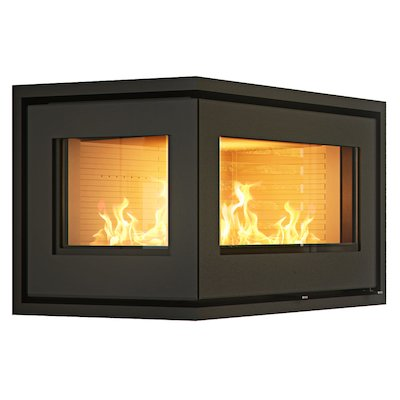 Rais 500/2 Wood Cassette Fire - Corner Black Left Side Glass