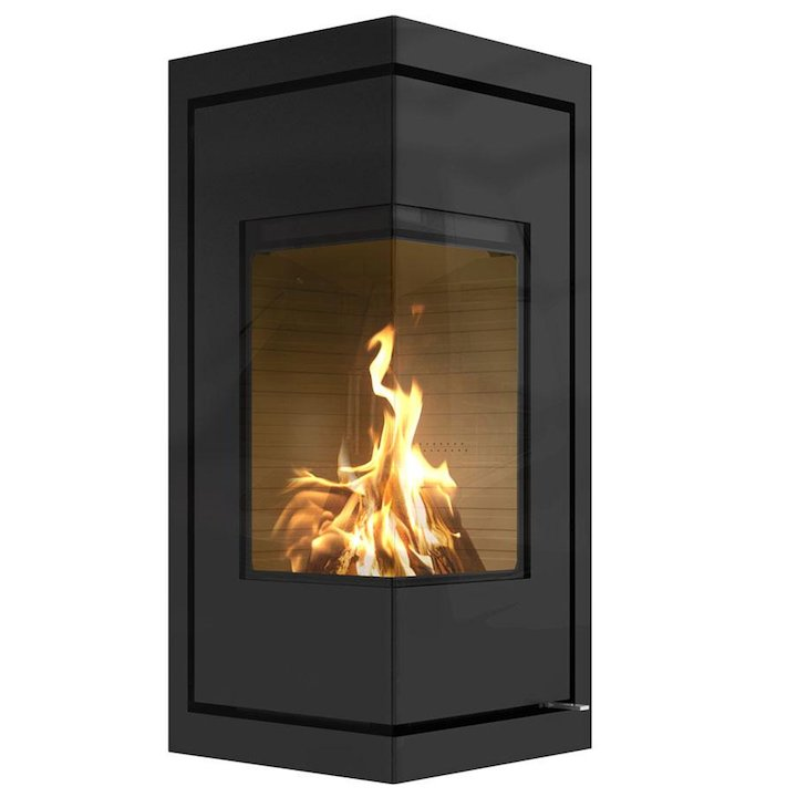 Rais Q-BE Wood Cassette Fire - Corner - Black