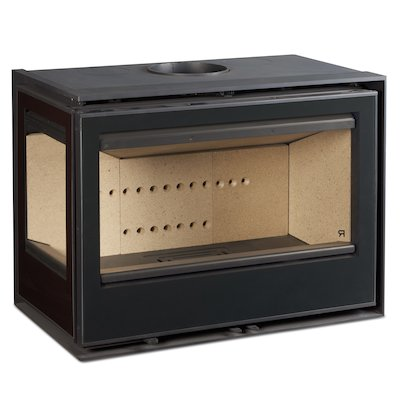 Rocal ARC 76 Wood Cassette Fire - Corner Black Glass Left Side Glass