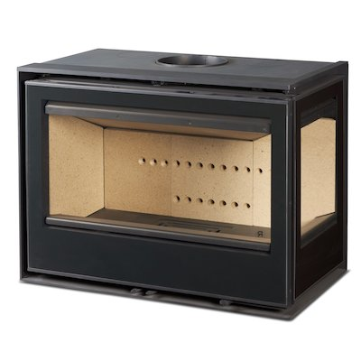 Rocal ARC 76 Wood Cassette Fire - Corner Black Glass Right Side Glass